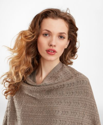 PON?O BROOKS BROTHERS POINTELLE CABLE-KNIT MERINO WOOL RUANA