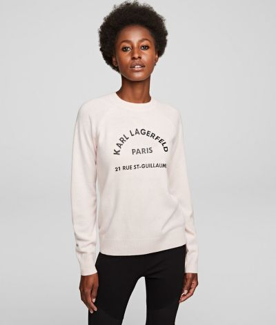 SVETR KARL LAGERFELD ADDRESS LOGO SWEATER