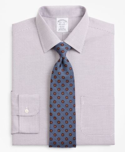 KOŠILE BROOKS BROTHERS REGENT FITTED DRESS SHIRT, NON-IRON MICRO-CHECK