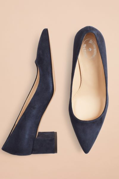 LODIČKY BROOKS BROTHERS POINT-TOE BLOCK-HEEL PUMPS