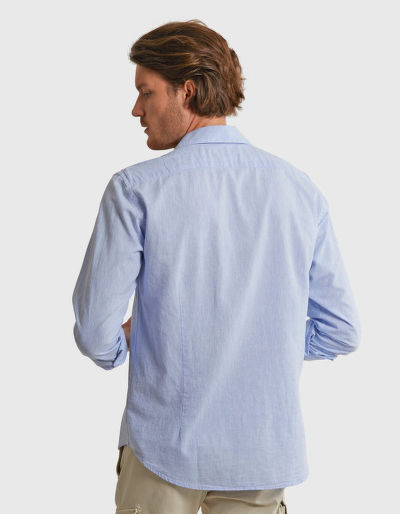 KOŠILE LA MARTINA MAN L/S SHIRT COTTON LINEN TEL