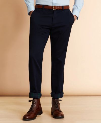 KALHOTY BROOKS BROTHERS FLANNEL-LINED CHINOS