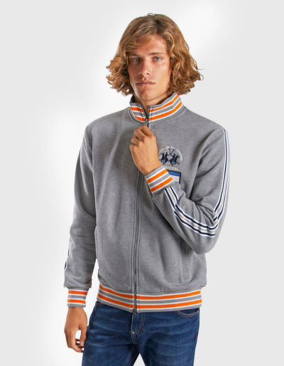 MIKINA LA MARTINA MAN FLEECE FULL ZIP COTTON POL