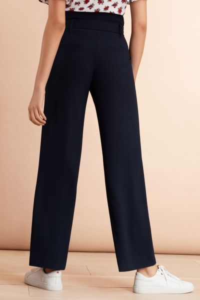 KALHOTY BROOKS BROTHERS CREPE HIGH-RISE WIDE-LEG PANTS