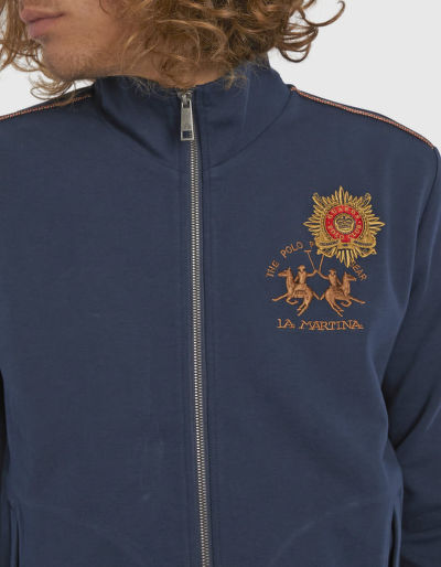 MIKINA LA MARTINA MAN FULL ZIP LIGHT FLEECE