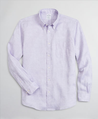 KOŠILE BROOKS BROTHERS SPT IRISH LINEN SOLID REGENT LAVENDER