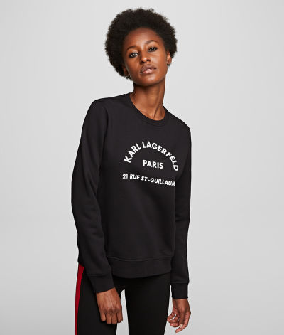 MIKINA KARL LAGERFELD ADDRESS LOGO SWEAT