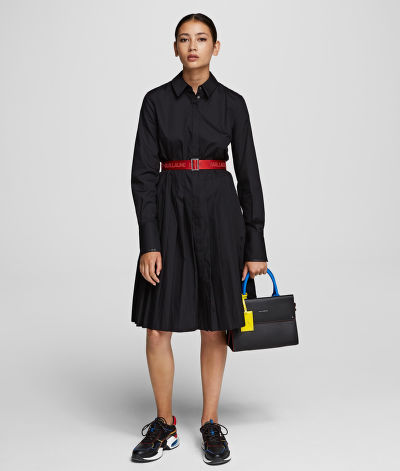 ŠATY KARL LAGERFELD SHIRT DRESS W/ LOGO BELT