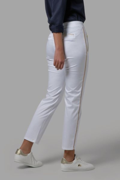 KALHOTY LA MARTINA WOMAN TROUSERS STRETCH SATIN