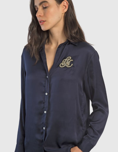 KOŠILE LA MARTINA WOMAN VISCOSE SATIN SHIRT L/S