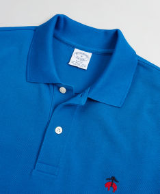 TRIČKO BROOKS BROTHERS KNT SS SUPIMA PERF POLO SLIM BLUE