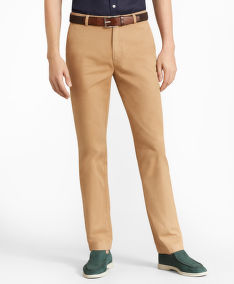 KALHOTY BROOKS BROTHERS CBT ML SUPIMA GMT DYE PANT MILANO KHAKI