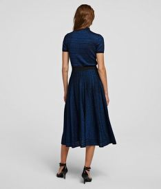 SUKNĚ KARL LAGERFELD LUREX PLEATED SKIRT