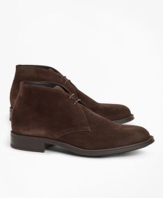POLOBOTKY BROOKS BROTHERS 1818 FOOTWEAR SUEDE CHUKKA BOOTS