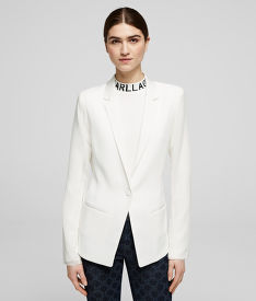 SAKO KARL LAGERFELD BLAZER W/ PLEATED BACK