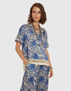 HALENKA LA MARTINA WOMAN SHIRT SHORT SLEEVES PRIN