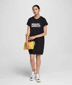 MIKINA KARL LAGERFELD BAUHAUS LOGO SSLV SWEAT DRESS