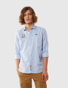 KOŠILE LA MARTINA MAN OXFORD L/S SHIRT OXFORD EA