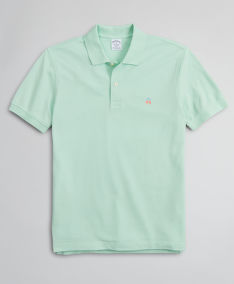 TRIČKO BROOKS BROTHERS KNT SS SUPIMA PERF POLO SLIM MIST GREEN
