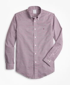 KOŠILE BROOKS BROTHERS NON-IRON REGENT FIT HEATHERED GINGHAM SPORT SHIRT