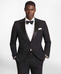 SAKO BROOKS BROTHERS BGATE TUX JKT 1B PEAK PS SV RGNT BLACK