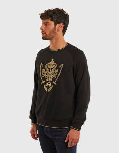 MIKINA LA MARTINA FLEECE CREW NECK COTTON FL