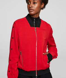 BUNDA KARL LAGERFELD BOMBER W/ SNAP SLEEVES