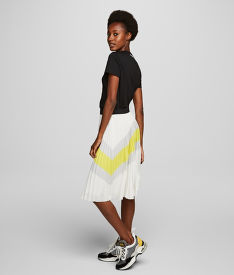 SUKNĚ KARL LAGERFELD COLOURBLOCK PLEATED SKIRT