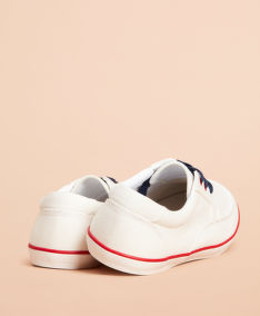 TENISKY BROOKS BROTHERS RF SLIP ON BOAT SHOE BRIGHT WHITE