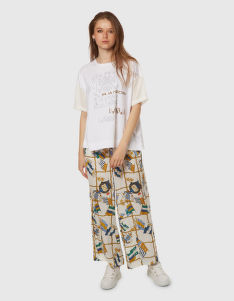 KALHOTY LA MARTINA WOMAN FLAGS PRINT VISCOSE PANT