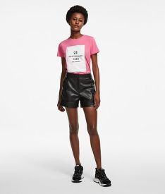 ŠORTKY KARL LAGERFELD FAUX LEATHER SHORTS