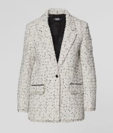 BUNDA KARL LAGERFELD LONG BOUCLE JACKET