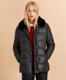 BUNDA BROOKS BROTHERS FAUX-FUR-TRIM DOWN PARKA