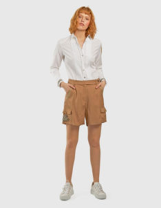 ŠORTKY LA MARTINA WOMAN VISCOSE TWILL SHORTS