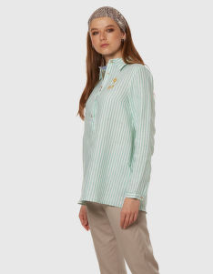 KOŠILE LA MARTINA WOMAN STRIPED LINEN SHIRT