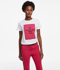 TRIČKO KARL LAGERFELD SQUARE ADDRESS LOGO T-SHIRT