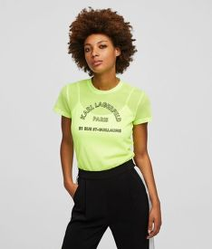 TRIČKO KARL LAGERFELD NEON ADDRESS MESH TOP