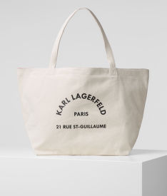 KABELKA KARL LAGERFELD K/RUE ST GUILLAUME CANVAS TOTE