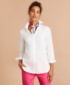KOŠILE BROOKS BROTHERS BLS CTN TUNIC BRIGHT WHITE