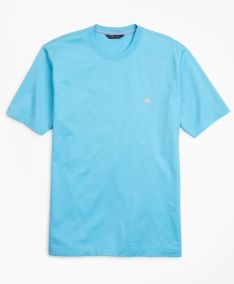 TRIČKO BROOKS BROTHERS KNT ML SUPIMA T-SHIRT AQUATIC