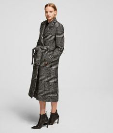 KABÁT KARL LAGERFELD TAILORED CHECK COAT