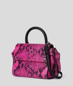 KABELKA KARL LAGERFELD K/IKON SNAKE MINI TOP HANDLE