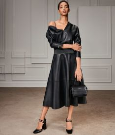 ŠATY KARL LAGERFELD FAUX LEATHER DRESS