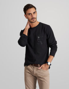 TRIČKO LA MARTINA MAN T-SHIRT LONG SLEEVES ORGAN