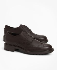 POLOBOTKY BROOKS BROTHERS 1818 FOOTWEAR SUEDE WINGTIPS