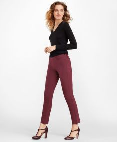 KALHOTY BROOKS BROTHERS STRETCH-COTTON TWILL ANKLE PANTS