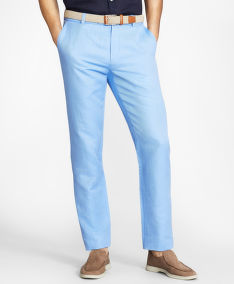 KALHOTY BROOKS BROTHERS CBT COTTON/LINEN PANT MILANO CORNFLOWER BLUE