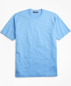 TRIČKO BROOKS BROTHERS KNT ML SUPIMA T-SHIRT CORNFLOWER BLUE