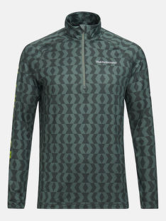 TERMO PRÁDLO PEAK PERFORMANCE M SPIRIT HALF ZIP PRINTED