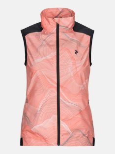 VESTA PEAK PERFORMANCE W CANYATA WIND VEST PRINT